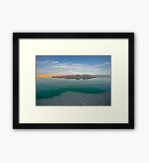 Dead sea, Israel at dusk Framed Print