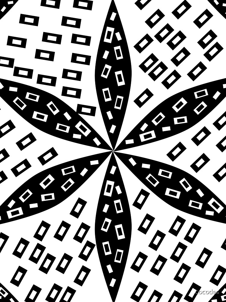 Black and white flower and rectangles von cocodes