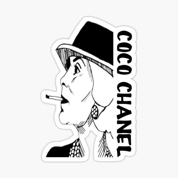 coco chanel fashion girly cadeau Sticker