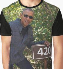 Obama 420 exit glacier Graphic T-Shirt