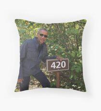 Obama 420 exit glacier Throw Pillow