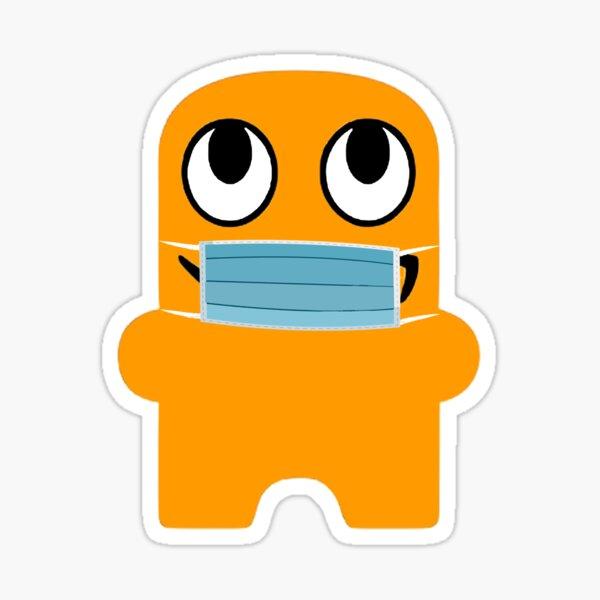Masked Amazon Employee  Sticker