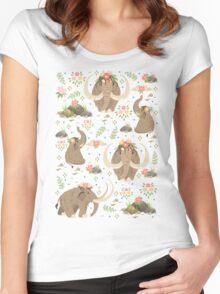 Cute mammoths Women's Fitted Scoop T-Shirt