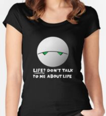 The paranoid android Women's Fitted Scoop T-Shirt