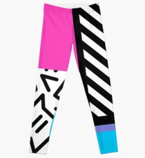 Bunter Retro Memphis-Auszug Leggings