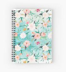 Watercolor Floral Pattern Spiral Notebook