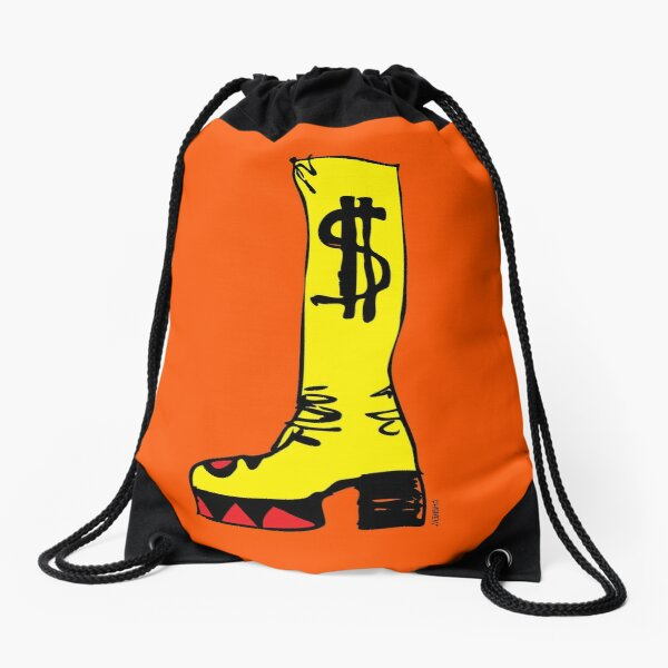 GET YER BOOTS ON! SLADE GLAM ROCK BOOT Drawstring Bag