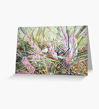 Fairies in the bush - Hakea Multineata Greeting Card