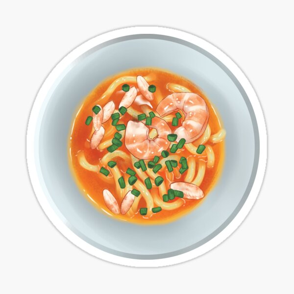 Vietnamese Banh Canh noodle bowl Sticker