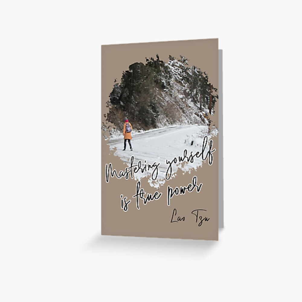 Mastering yourself is true power - Impactful Positive Motivational Greeting Card
