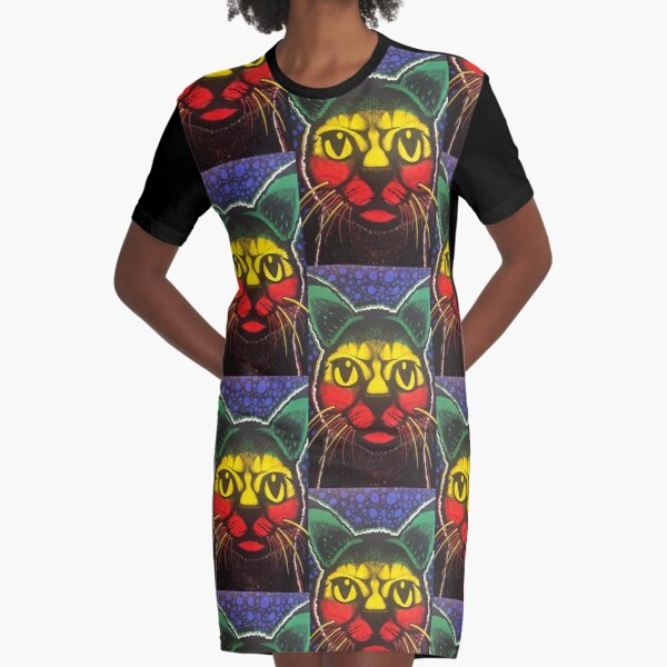 SpaceCat T-Shirt Kleid