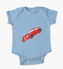 A Butch Red Muscle Car One Piece - Short Sleeve