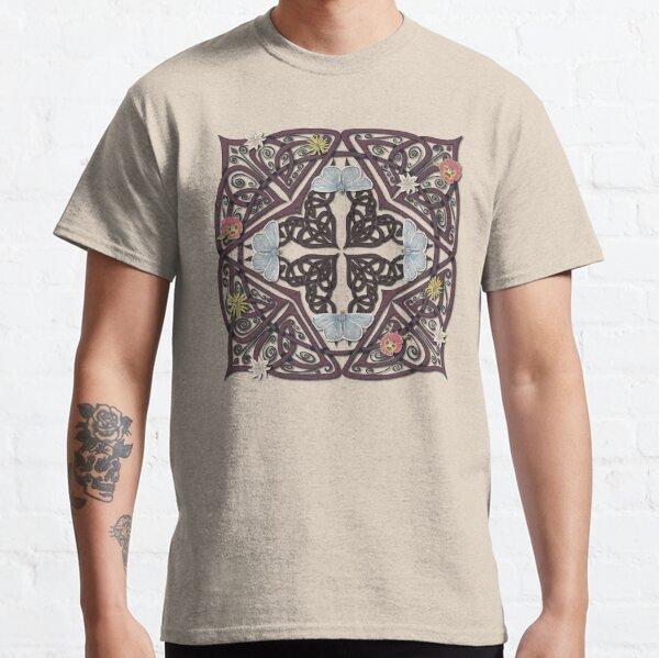 Blue Butterflies Celtic Medieval Knotwork Classic T-Shirt