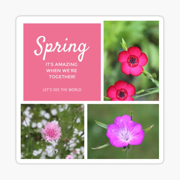 Spring - It's amazing when we're together! Sticker