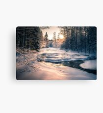 Winter feeling on the river II Canvas Print