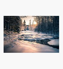 Winter feeling on the river II Photographic Print