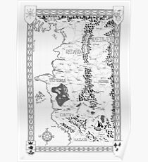 Witcher Map done in Ink Poster