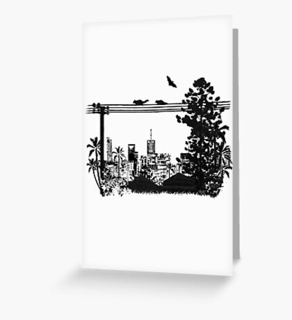 Brisbane Evening Skyline Greeting Card