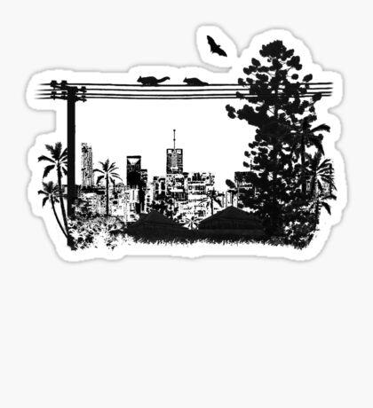 Brisbane Evening Skyline Sticker