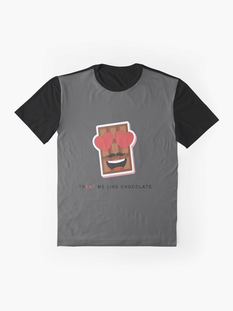 Alternate view of TR 'EAT' ME LIKE CHOCOLATE Graphic T-Shirt