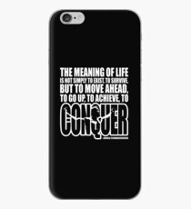 Meaning of Life (CONQUER Arnold Iconic White) iPhone Case