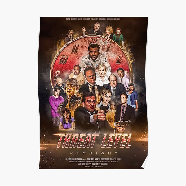 THREAT LEVEL MIDNIGHT Comedy The Office Poster