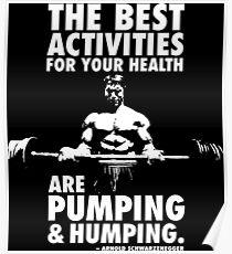 Pumpen und Hüpfen Poster