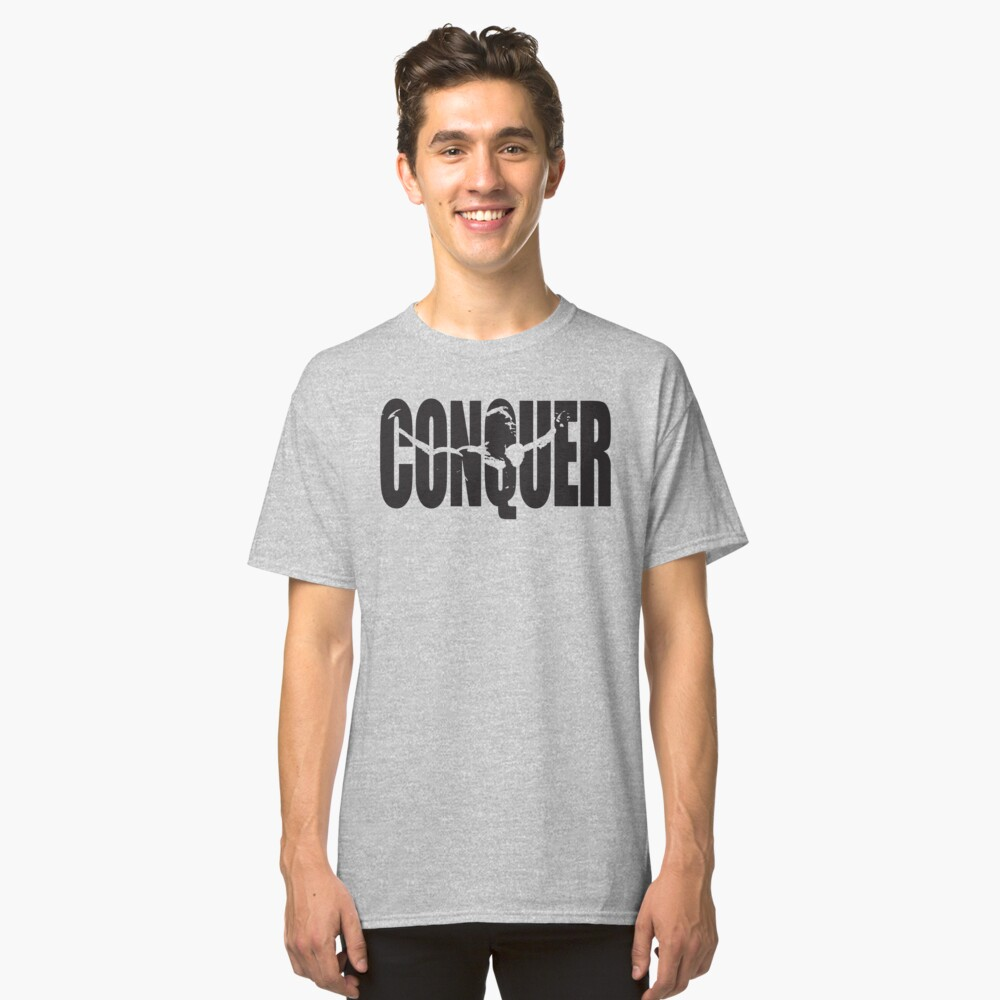 CONQUER (Arnold Iconic Black) Classic T-Shirt Front