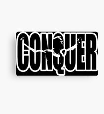 CONQUER (Arnold Iconic White) Canvas Print
