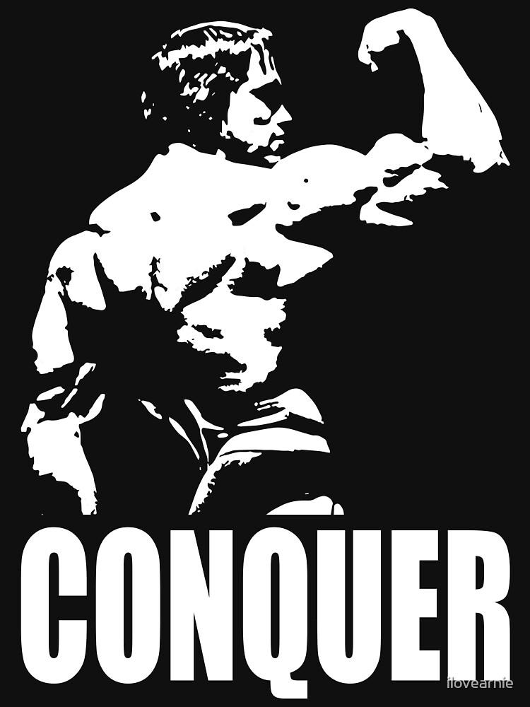 CONQUER (Arnold Back Bicep Flex) | Unisex T-Shirt