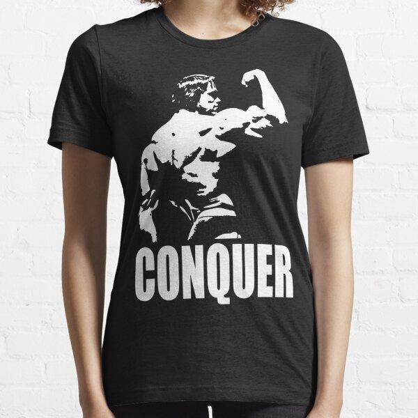 CONQUER (Arnold Back Bicep Flex) Essential T-Shirt