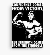 Confidence and Struggle Canvas Print