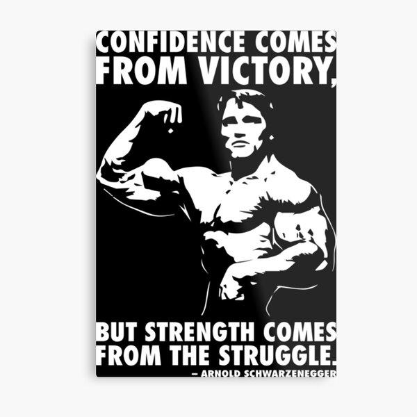 Confidence and Struggle Metal Print