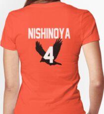 Haikyuu!! Jersey Nishinoya Number 4 (Karasuno) Women's Fitted V-Neck T-Shirt
