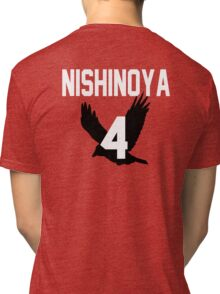 Haikyuu!! Jersey Nishinoya Number 4 (Karasuno) Tri-blend T-Shirt