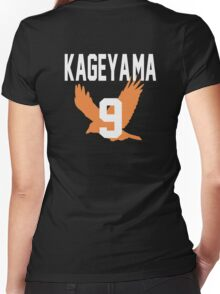 Haikyuu!! Jersey Kageyama Number 9 (Karasuno) Women's Fitted V-Neck T-Shirt