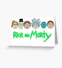 Rick and Morty Pixel Characters  Greeting Card