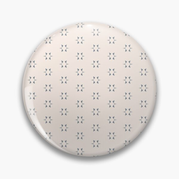 Cottagecore Neutral Grey Star Pin