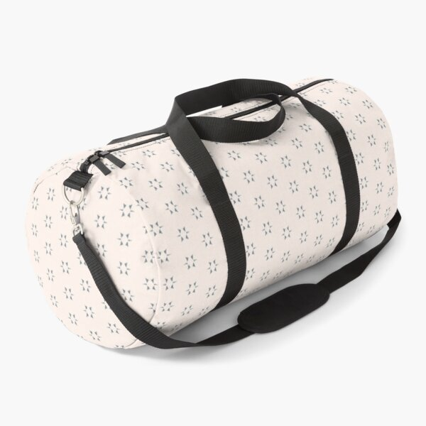 Cottagecore Neutral Grey Star Duffle Bag