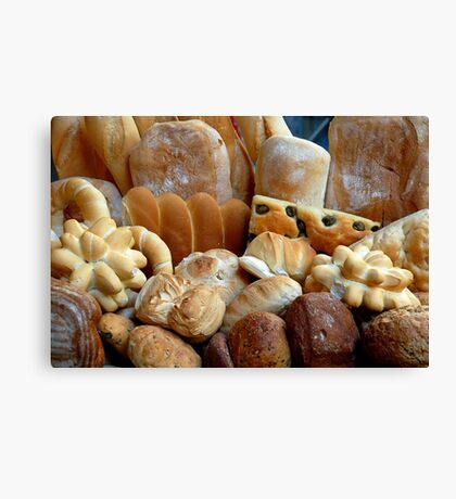 The smell of freshly baked bread Canvas Print