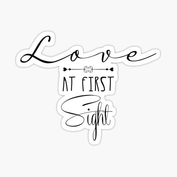 "Valentine's Day gift, ""Love at first sight""  Sticker"