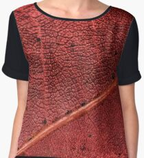 The Changing of the Seasons - Maple Tree Leaf Women's Chiffon Top