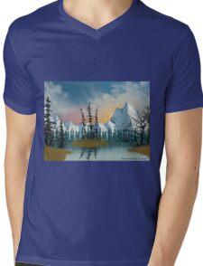 Sweet Mountain Sunrise Mens V-Neck T-Shirt