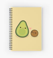 Cute avocado and stone Spiral Notebook
