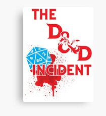 The D & D Incident - Dungeons & Dragons Canvas Print