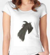Scottish Terrier dog, tony fernandes Women's Fitted Scoop T-Shirt