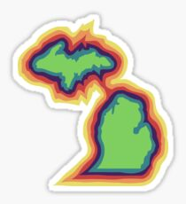 Psychedelic Michigan Sticker