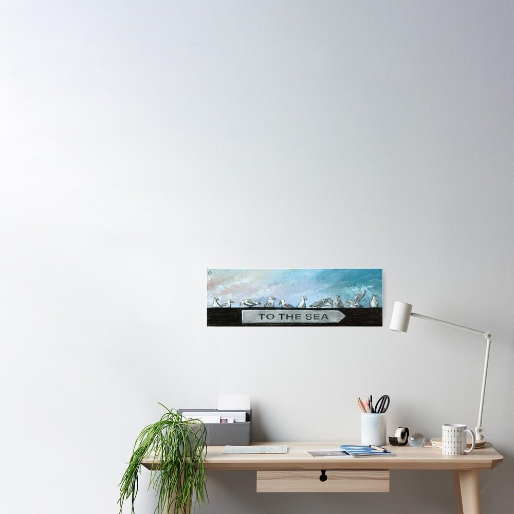 Ten Gulls Poster