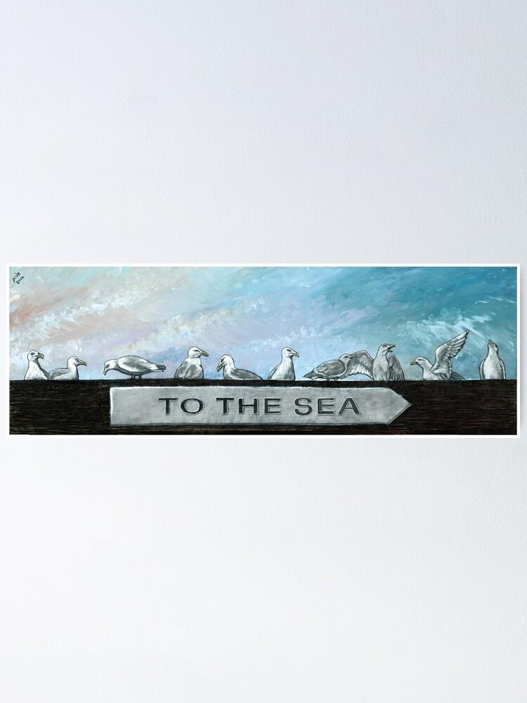 Alternate view of Ten Gulls Poster