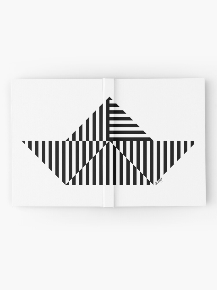 Alternate view of Paper Boat design Hardcover Journal